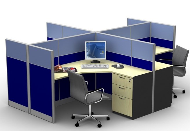 Desain Meja Kerja Kantor Minimalis