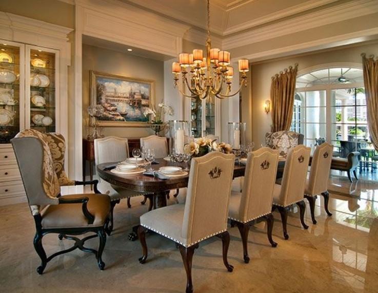 Desain Ruang Makan Mewah Elegan