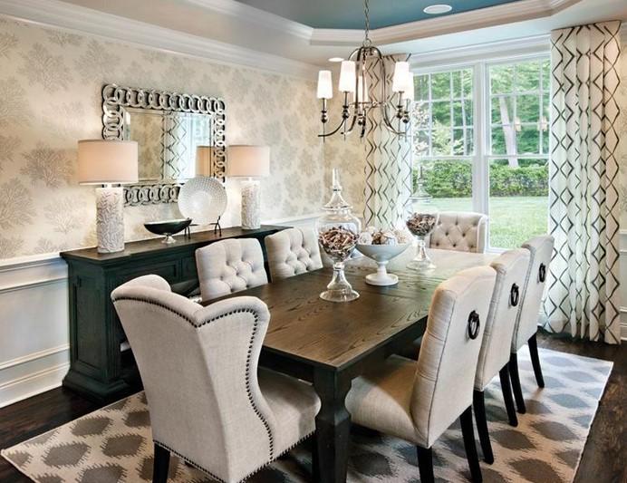 Desain Ruang Makan Minimalis Mewah Putih