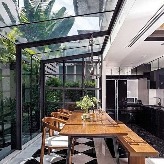 Desain Ruang Makan Minimalis Terbuka