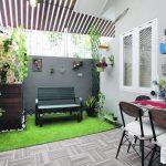 Desain Ruang Makan Taman Kecil