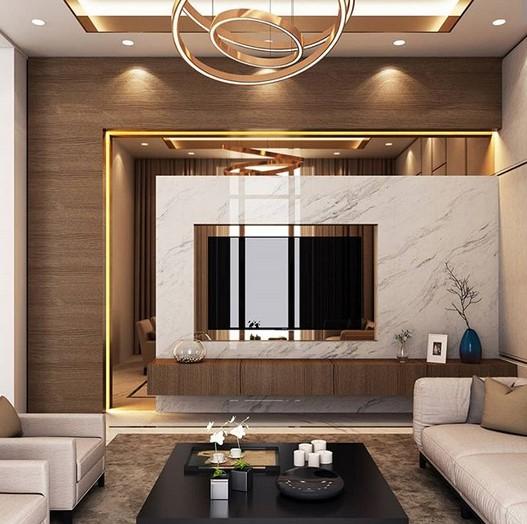 Desain Ruang Tamu Besar Mewah