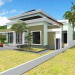 Desain Rumah 2 Teras Depan Dan Samping