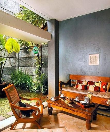 Desain Rumah Dengan Teras Depan Dan Samping