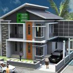 Desain Teras Rumah 2 Lantai Sederhana