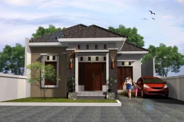 Desain Teras Rumah Mewah 1 Lantai