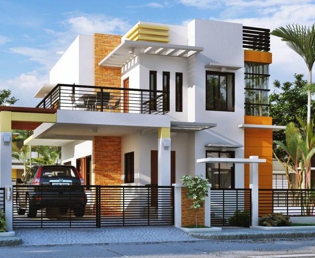 Desain Teras Rumah Mewah 2 Lantai