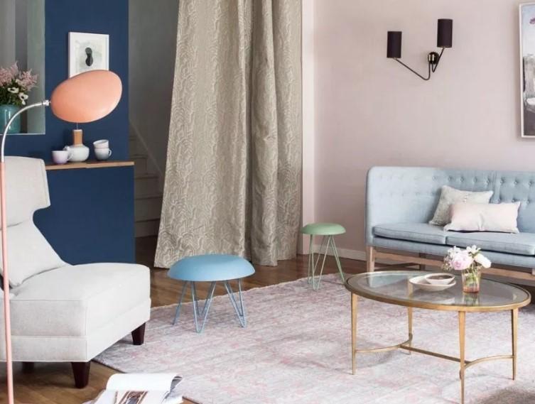 Foto Cat Ruang Tamu 2 Warna