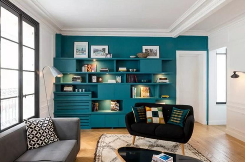 Foto Cat Ruang Tamu Minimalis 2 Warna