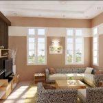Foto Warna Cat Ruang Tamu 2 Warna Modern Yang Bagus