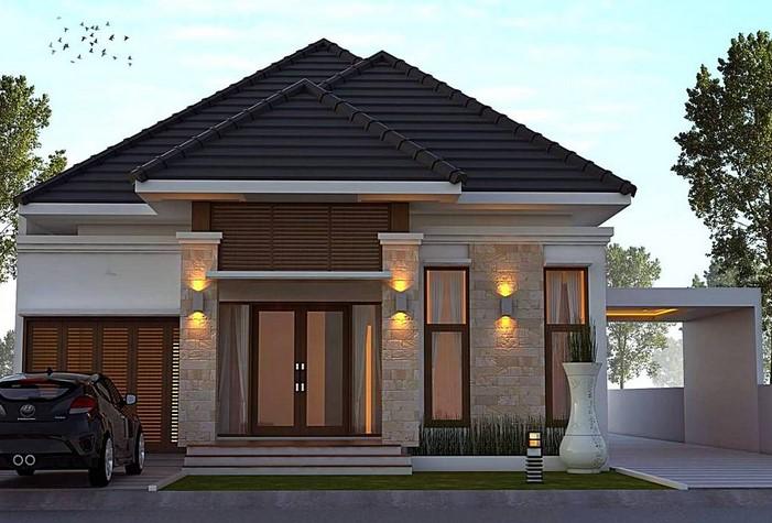 349+123+ Contoh Desain Teras Rumah 1 Lantai Terlihat Keren