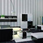 Kombinasi Cat Ruang Tamu 2 Warna Hitam dan Putih