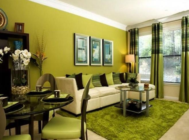 Kombinasi Cat Ruang Tamu Modern 2 Warna Terbaru