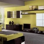 Kombinasi Warna Cat Ruang Tamu 2 Warna