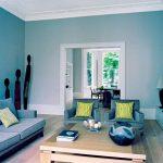 Kombinasi Warna Cat Ruang Tamu 2 Warna Minimalis