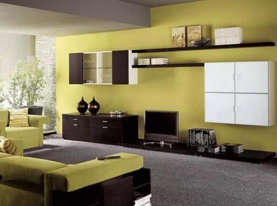 40 Kombinasi Cat Ruang Tamu 2 Warna Terbaik 2020