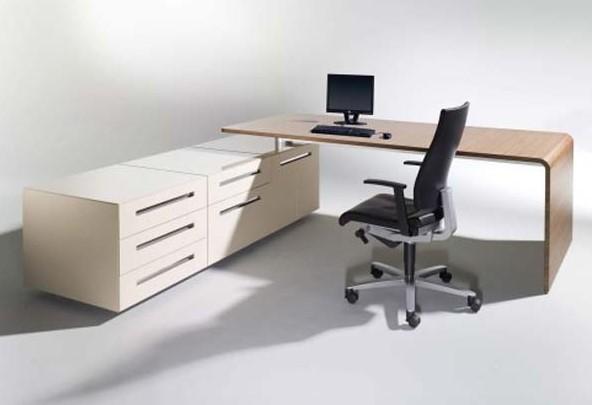 Meja Kerja Minimalis Putih