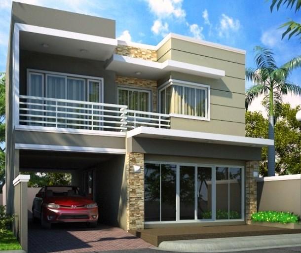 Model Teras Rumah Dua Lantai
