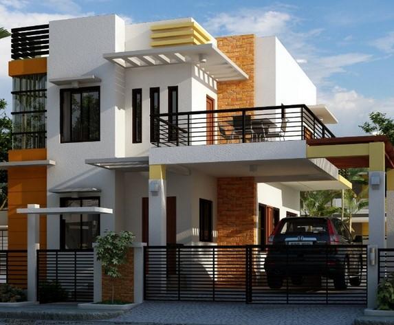 Model Teras Rumah Mewah 2 Lantai
