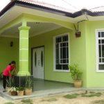 Model Teras Rumah Warna Hijau