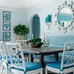 Ruang Makan Minimalis Biru