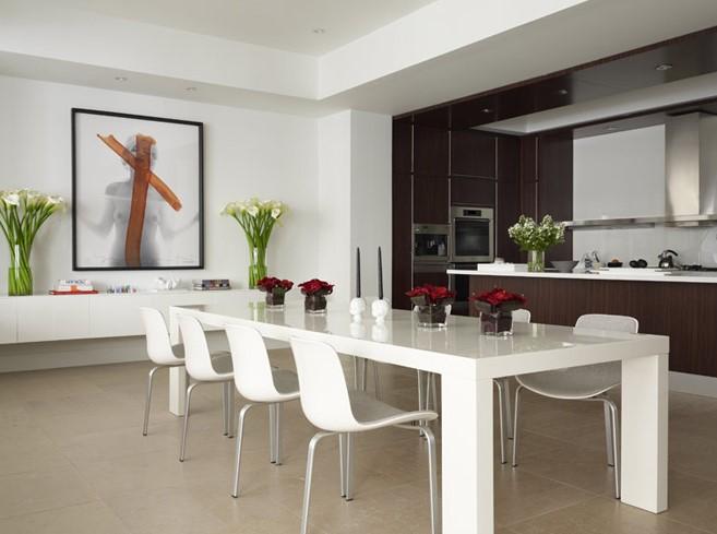 Ruang Makan Minimalis Putih
