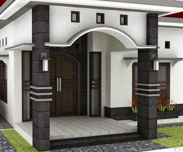 Teras Rumah Mewah Tampak Depan