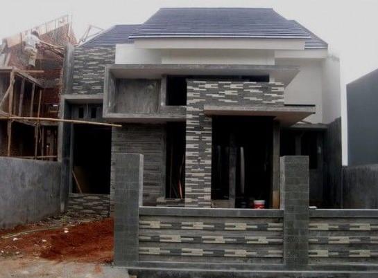 Teras Rumah Sederhana Dengan Batu Alam