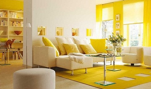 Warna Cat Ruang Tamu 2 Warna Atas Bawah