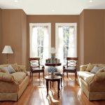 Warna Cat Ruang Tamu 2 Warna Coklat