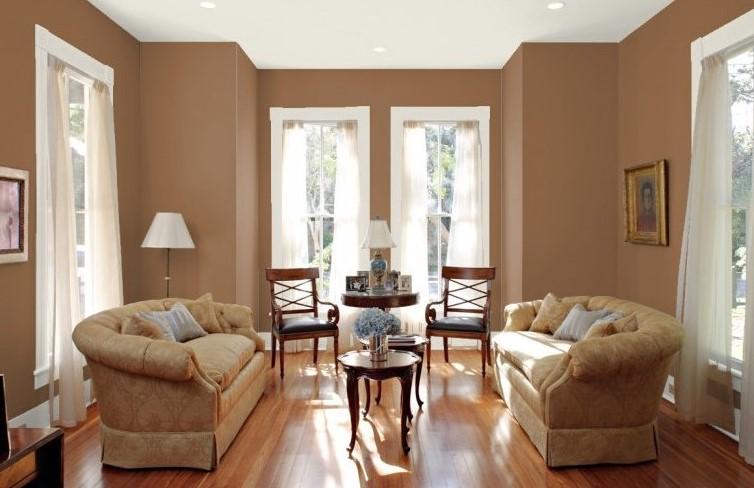 Image result for ruang tamu warna coklat