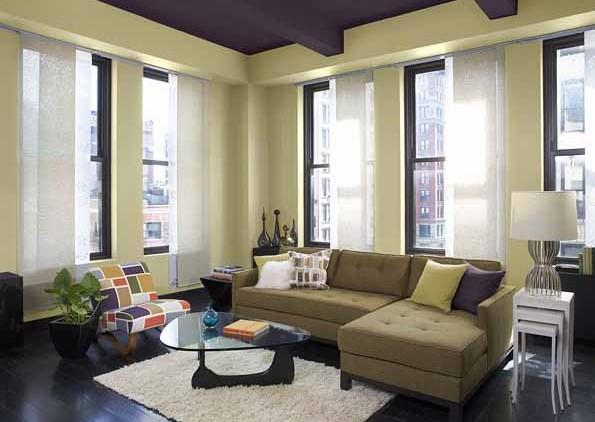 Warna Cat Ruang Tamu 2 Warna Elegan