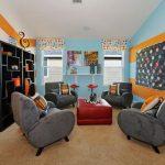 Warna Cat Ruang Tamu 2 Warna Garis Garis