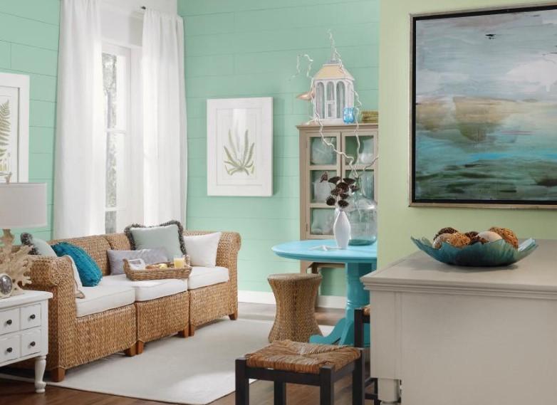 Warna Cat Ruang Tamu 2 Warna Klasik