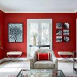 Warna Cat Ruang Tamu 2 Warna Minimalis