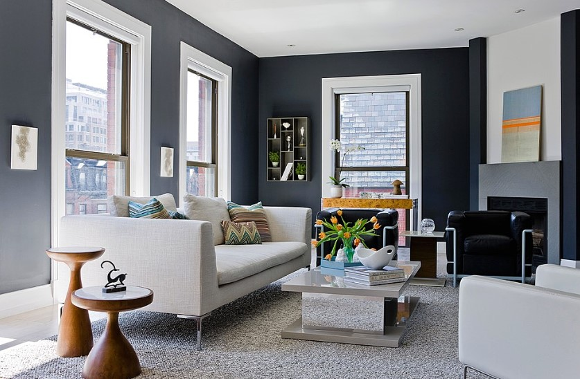 Warna Cat Ruang Tamu 2 Warna Yang Bagus