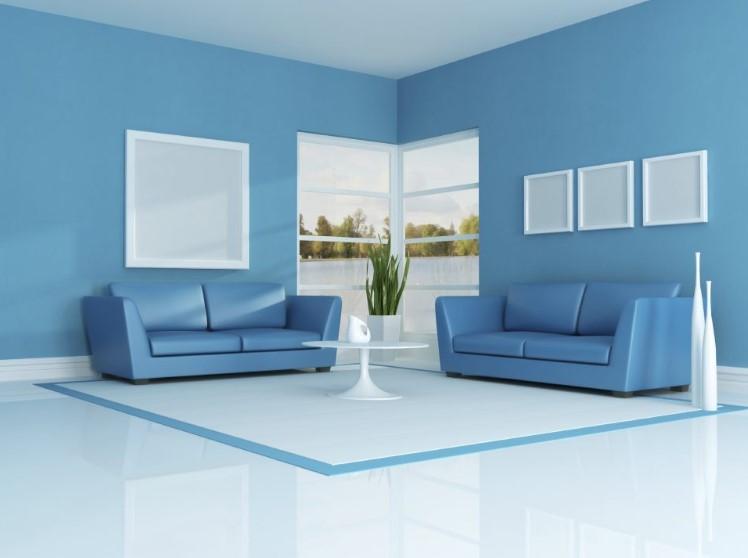Warna Cat Ruang Tamu Biru Muda Yang Sejuk