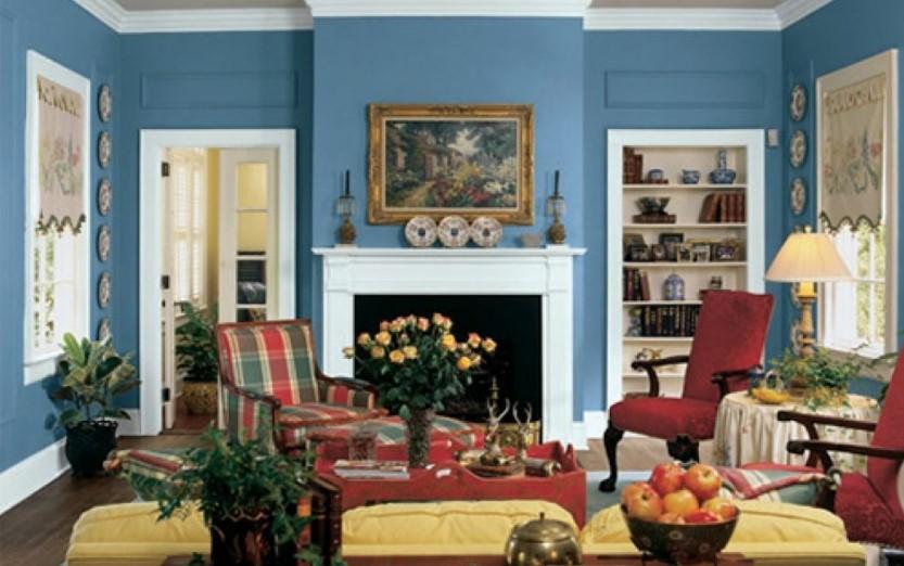 Warna Cat Ruang Tamu Biru Yang Cantik