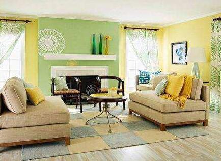 Warna Cat Ruang Tamu Kombinasi Yang Sejuk