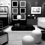 Warna Cat Ruang Tamu Minimalis 2 Warna Hitam dan Putih