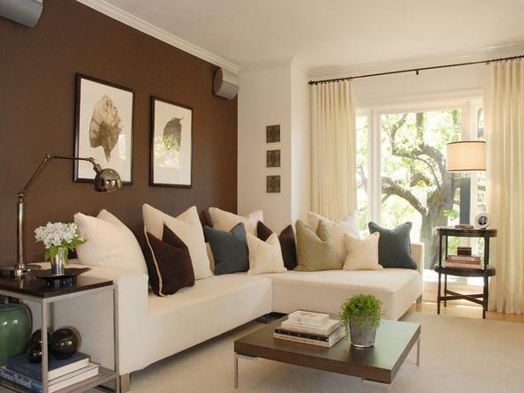 Warna Cat Ruang Tamu Minimalis Coklat
