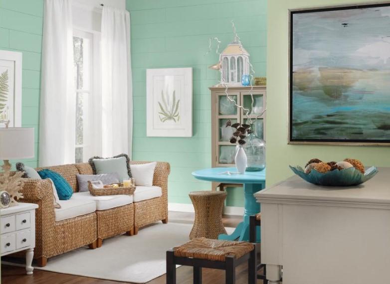 Warna Cat Ruang Tamu Minimalis Pastel