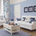 Warna Cat Ruang Tamu Sempit Biru Muda