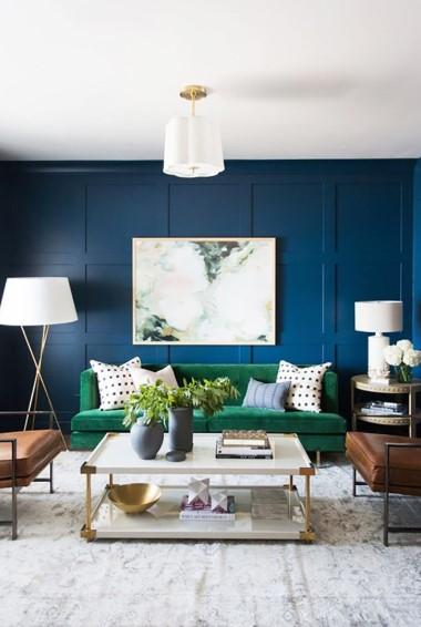 Warna Cat Ruang Tamu Sempit Biru Tua