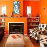 Warna Cat Ruang Tamu Sempit Jingga