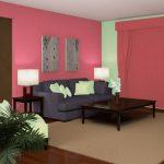 Warna Cat Ruang Tamu Sempit Merah Muda