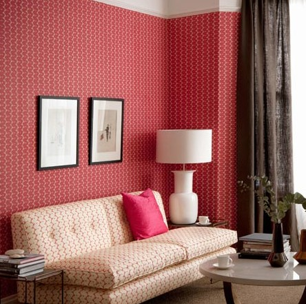 Warna Cat Ruang Tamu Sempit Merah