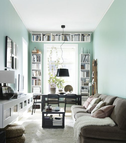 Warna Cat Ruang Tamu Sempit Pastel