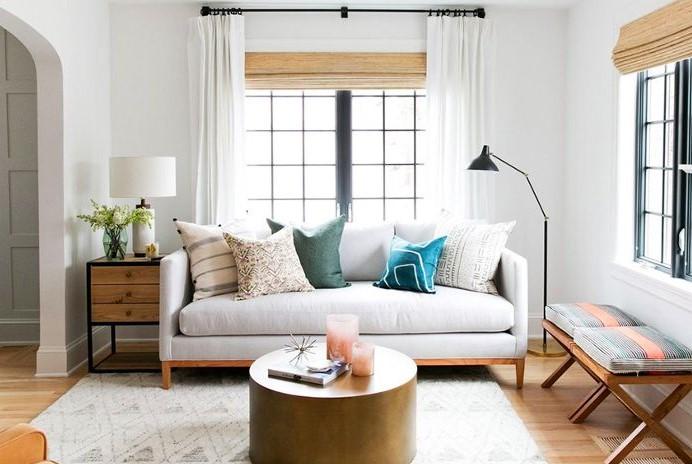 Warna Cat Ruang Tamu Sempit Putih