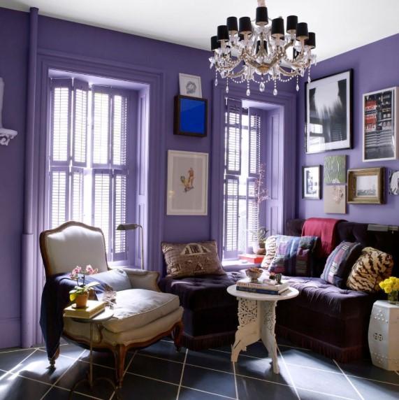 Warna Cat Ruang Tamu Ungu Yang Cantik